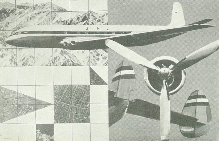 Ad for Japan Airline - Art: Yusaku Kamekura. Photo: Osamu Yagi